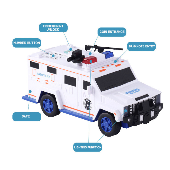 Electronic Money Bank Code Armored Hummer Car