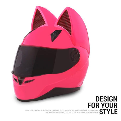 Image of Full Face Motorcycle Cat Ear Helmet ( Buy 2 Get Extra 10% Off )