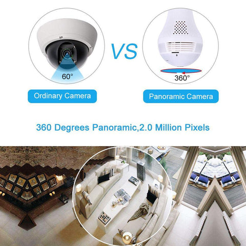 Image of 360° Fish Eye Bulb Panoramic IP Camera ( Buy 2 Get Extra 10% Off ) TopViralPick