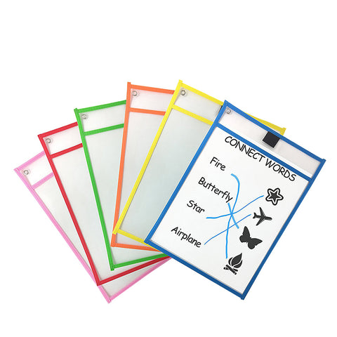 Image of Reusable Dry Erase Pockets 10 Pieces/Set ( Buy 2 Get Extra 10% Off )