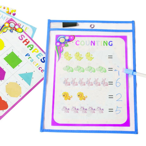 Reusable Dry Erase Pockets 10 Pieces/Set ( Buy 2 Get Extra 10% Off )