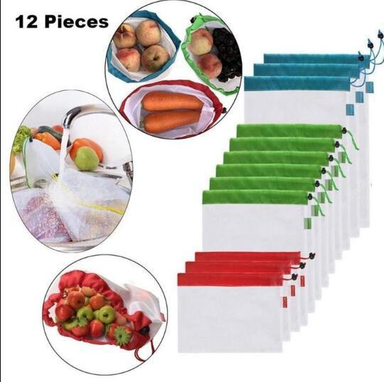 12pcs Reusable Mesh Produce Bags ( Buy 2 Get Extra 10% Off ) TopViralPick