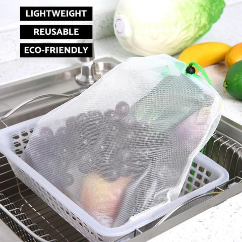 Image of 12pcs Reusable Mesh Produce Bags ( Buy 2 Get Extra 10% Off ) TopViralPick