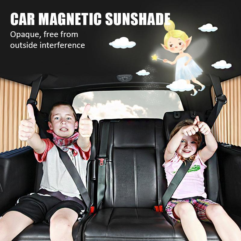 Car Magnetic Sunshade ( Buy 2 Get Extra 10% Off ) TopViralPick FRONT (2 Pcs) BLACK