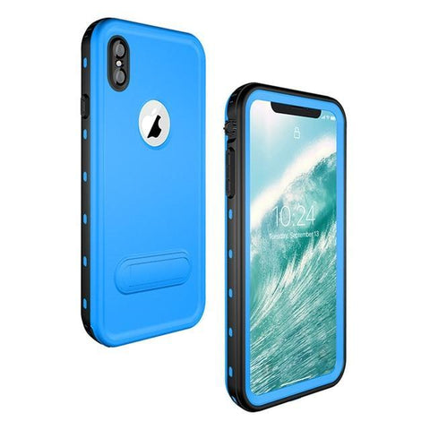 Military Grade Water Proof IPHONE Slim Case ( Buy 2 Get Extra 10% Off ) TopViralPick Light blue for iPhone X