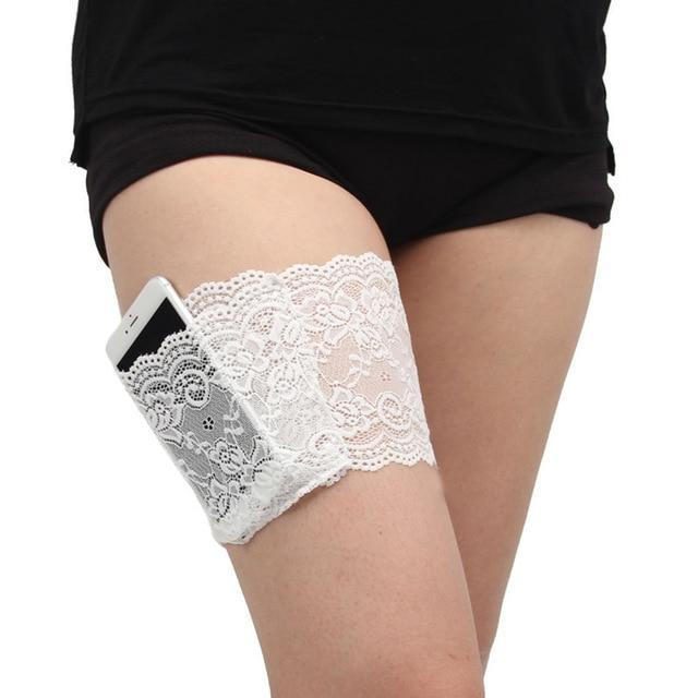 Women Thigh Lace Bands ( Buy 2 Get Extra 10% Off ) TopViralPick White S 48-50cm