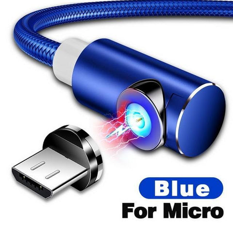 Indestructible Magnetic 3-in-1 Cable ( Buy 2 Get Extra 10% Off ) TopViralPick For Micro USB Blue 1m (3.3ft)
