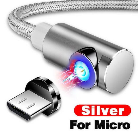 Indestructible Magnetic 3-in-1 Cable ( Buy 2 Get Extra 10% Off ) TopViralPick For Micro USB Silver 1m (3.3ft)