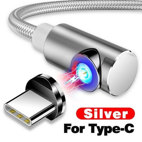 Indestructible Magnetic 3-in-1 Cable ( Buy 2 Get Extra 10% Off ) TopViralPick For Type C Silver 1m (3.3ft)