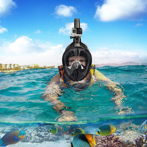Image of EXPLORER PRO SNORKEL MASK ( Buy 2 Get Extra 10% Off ) TopViralPick Black S/M