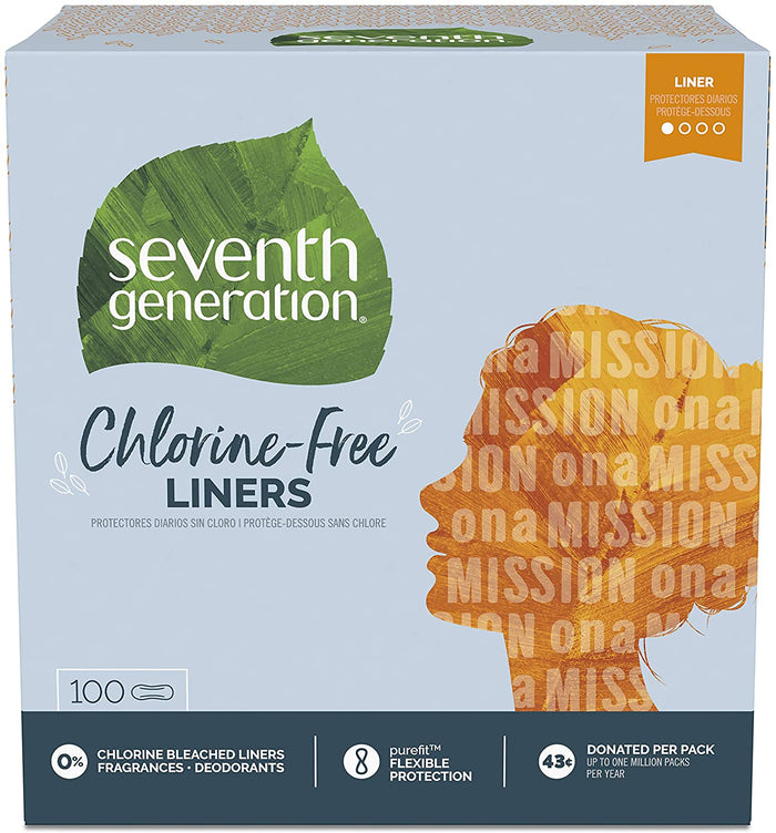 Seventh Generation Pantiliners, 100 Count