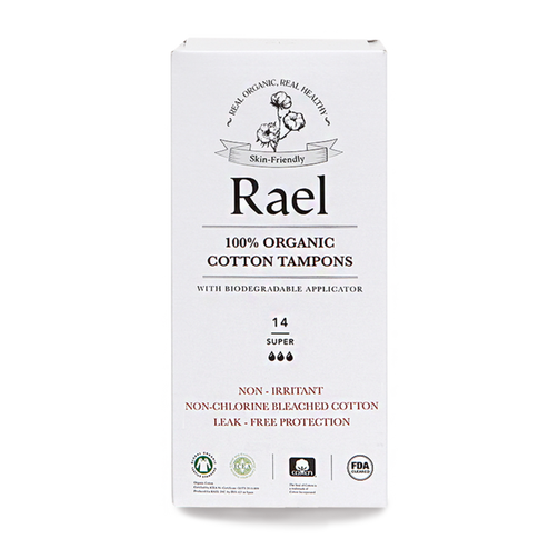 RAEL Super Tampons Cardboard Applicator 14ct - Our Ladies