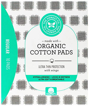 The Honest Company Organic Cotton Pads, Regular, 10 Count - Our Ladies