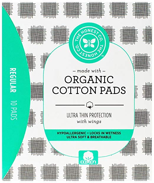 The Honest Company Organic Cotton Pads, Regular, 10 Count