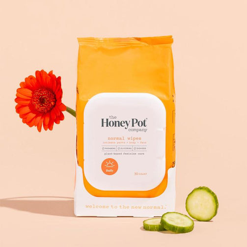 THE HONEY POT COMPANY Normal Feminine Wipes 30 or 15 ct - Our Ladies