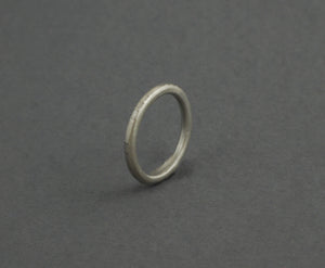 Round etched texture Sterling Silver ring