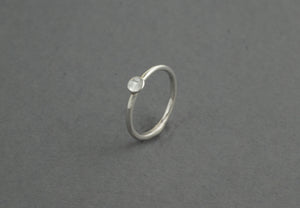 Tiny Sterling Silver Circle Ring