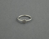 Sterling Silver Textured Circle Ring