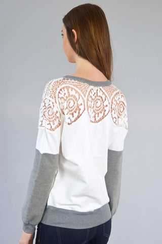 Lattice Lace Sweater
