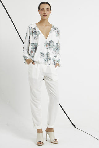 Saint White Floral Blouse