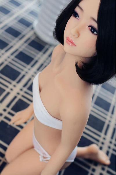 125cm 4.1ft Flat Chest Sex Doll With 3 Entries A Cup Japanese Adult Silicone Real Doll Yuki-sexdollslab.com