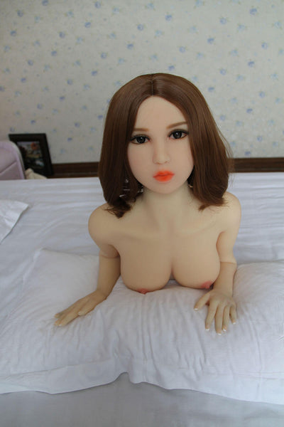 140cm 4.59ft Lifelike Sex Doll With 3 Entries C Cup Adult Real Love Doll Anne-sexdollslab.com