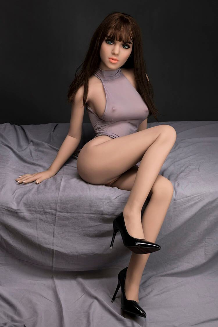 148cm 4.85ft D-Cup Lifelike Sex Doll with Steel Skeleton Adult Real Doll Colette