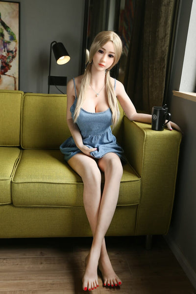 158cm 5.18ft Real Size Sex Doll With Steel Skeleton B Cup Annabelle Lifelike Real Doll Buena-sexdollslab.com