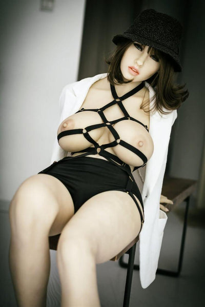 158cm 5.18ft Real Size Sex Doll With 3 Hole Entries Steel Skeleton H Cup Lifelike Adult Real Doll Gilda-sexdollslab.com