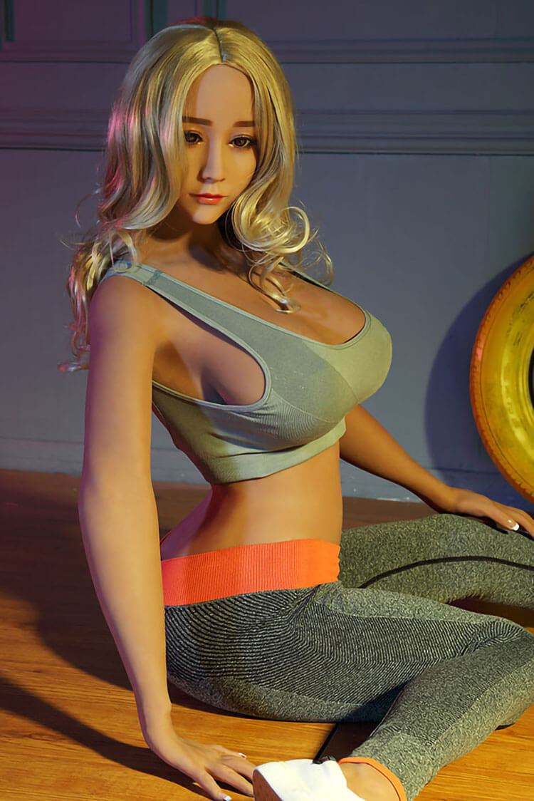 165cm 5.41ft Blonde Sex Doll With 3 Entries D Cup Lifelike Full Size Adult Real Dolls Ethel