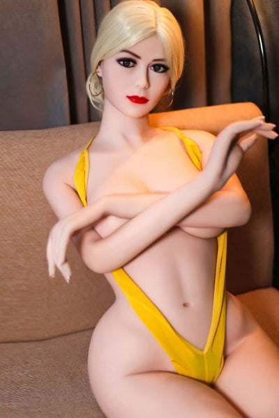 165cm 5.41ft Blonde Sex Doll With 3 Entries D Cup Realistic Lifelike Real Dolls Audrey sexdollslabs