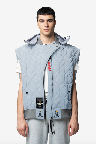 ELIAS OVERSIZED LUXURY STREETWEAR VEST - NISM |Luxury streetwear aesthetic vest mens