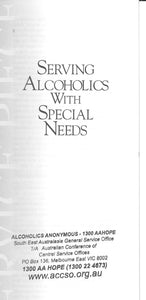 Serving Alcoholics with special needs