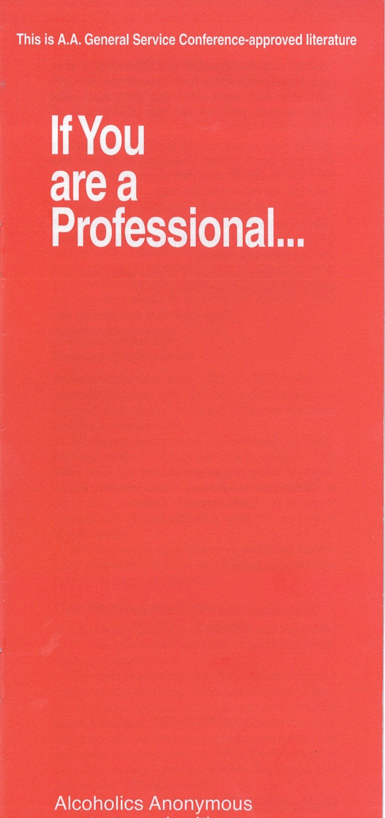 If You Are A Professional