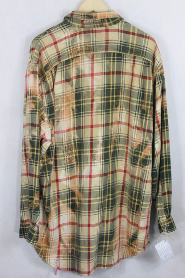 Vintage Yellow and Green Flannel Size XXL