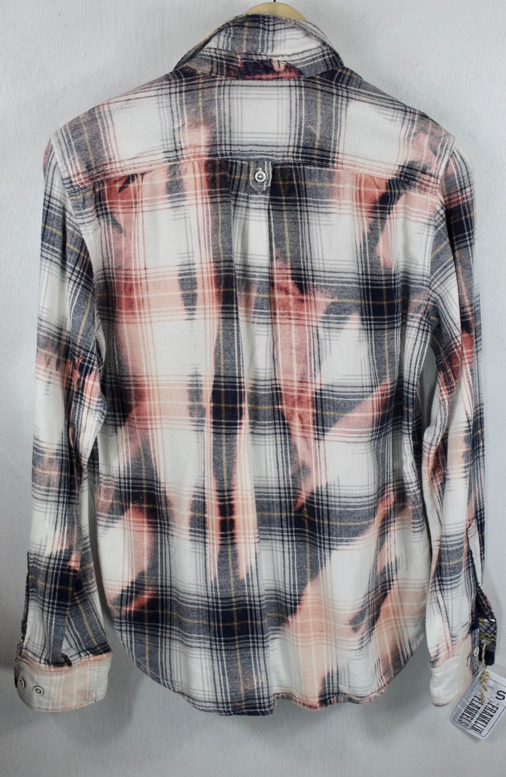 Vintage Black, White and Pink Lightweight Flannel Size Small