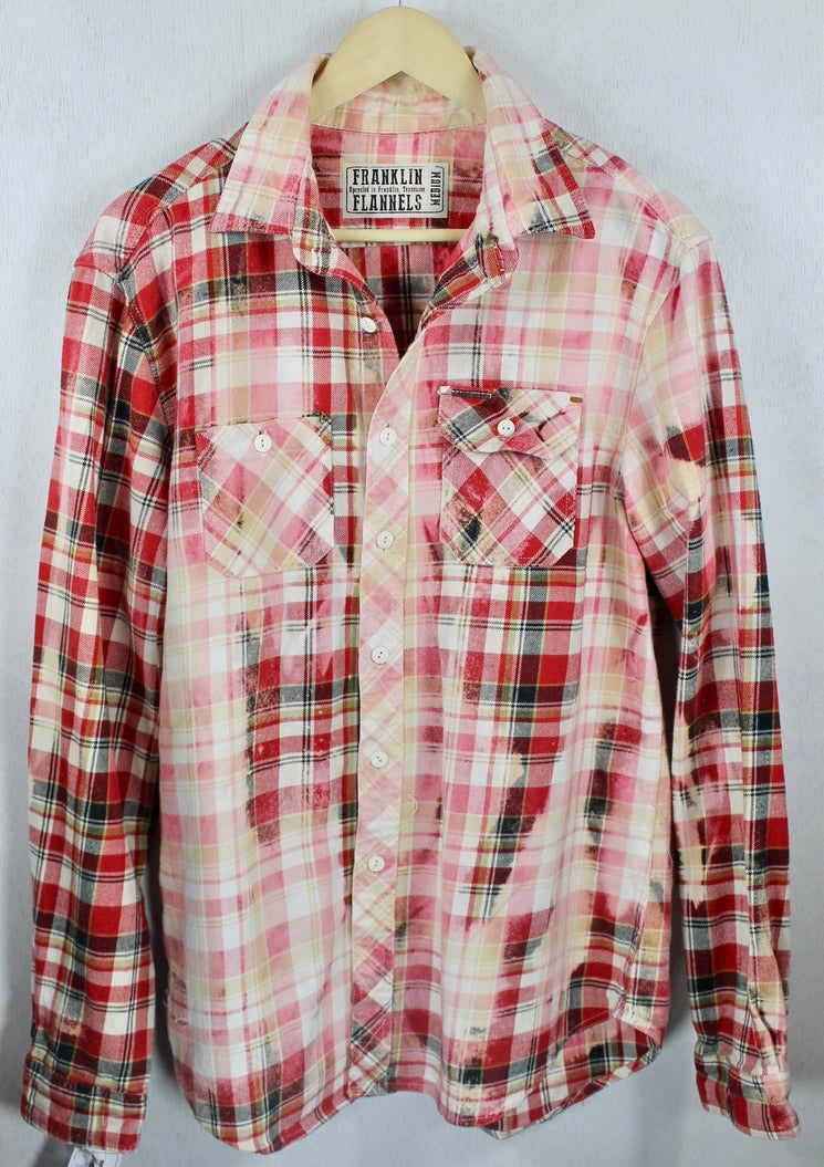 Vintage Red, Pink and White Flannel Size Medium