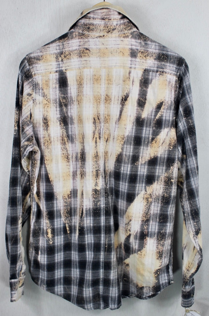 Vintage Grey, Cream and White Flannel Size Small