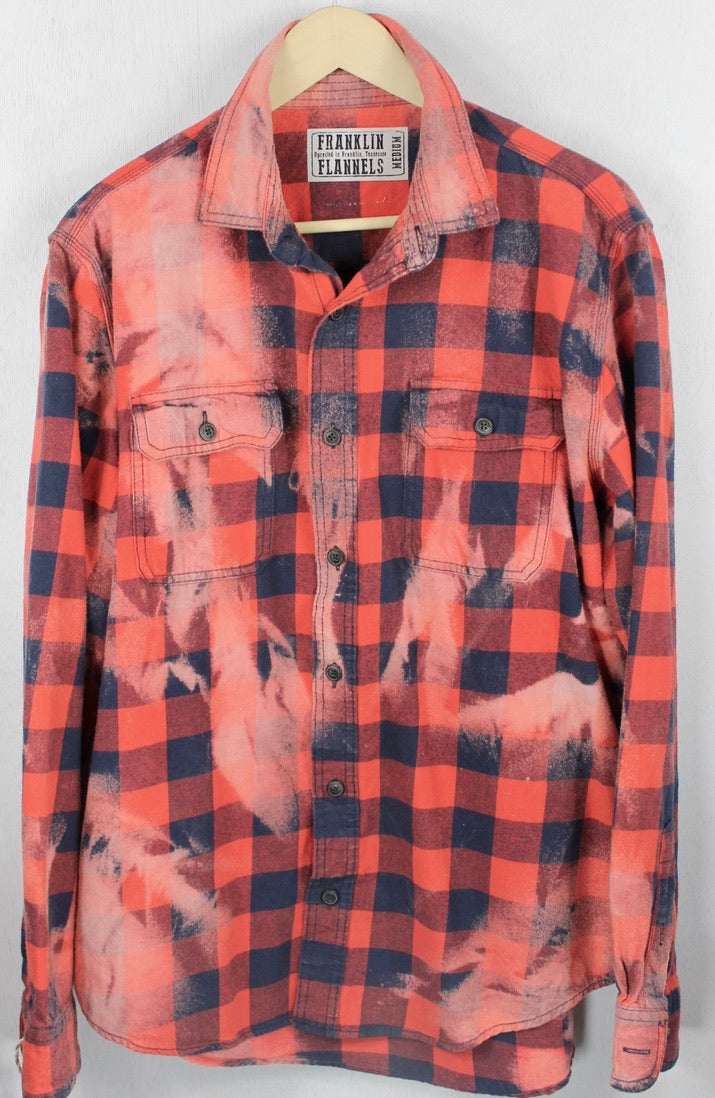 Vintage Buffalo Check Red and Blue Flannel Size Medium