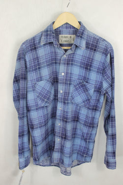 Vintage Retro Blue Flannel Size Small