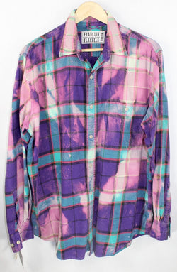Vintage Purple, Pink and Turquoise Flannel Size Medium