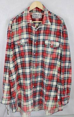 Vintage Western-cut Red, Green and White Flannel Size XXL