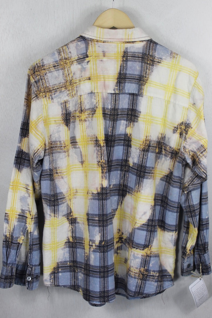 Vintage Blue and Yellow Flannel Size Medium
