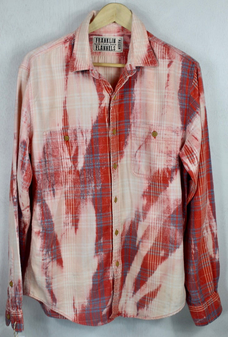 Vintage Red, Pink and Blue Flannel Size Medium