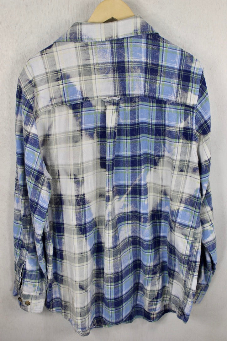 Vintage Blue and Grey Flannel Size XL