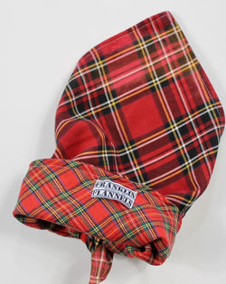 Dog Bandana Double-Sided Red Plaid Size Large