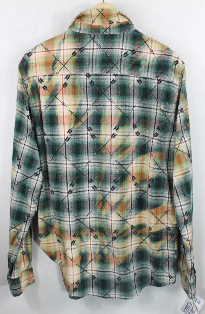 Vintage  Green, Black and Rust Flannel Size Medium