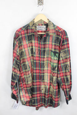 Vintage Red and Green Flannel Size Large