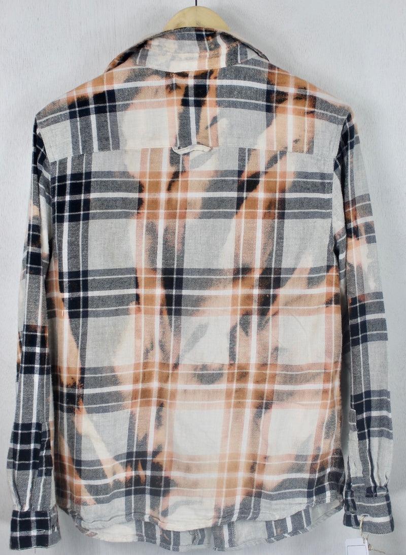 Vintage Grey, White and Pink Flannel Size Small
