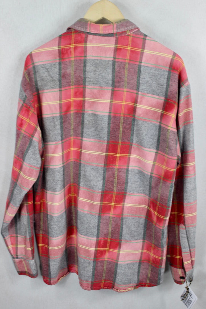 Vintage Red and Grey Flannel Size XL